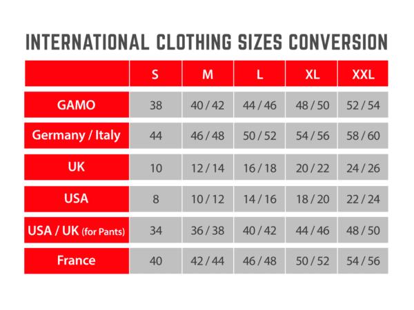 International Clothing Sizes Conversion GamoGamo